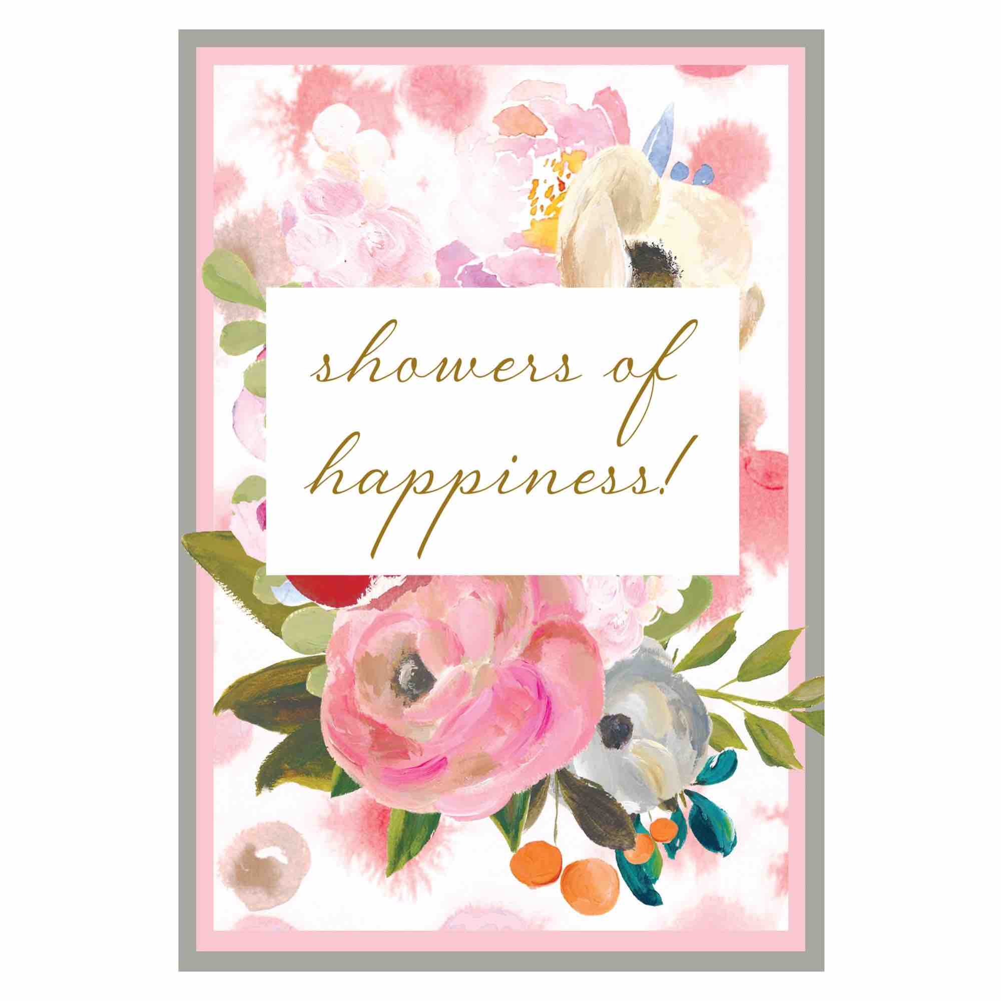 Bridal Shower Card | Showers of Happiness disc