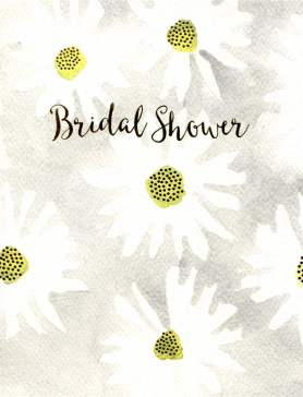 Bridal Shower Card | Daisies on Grey