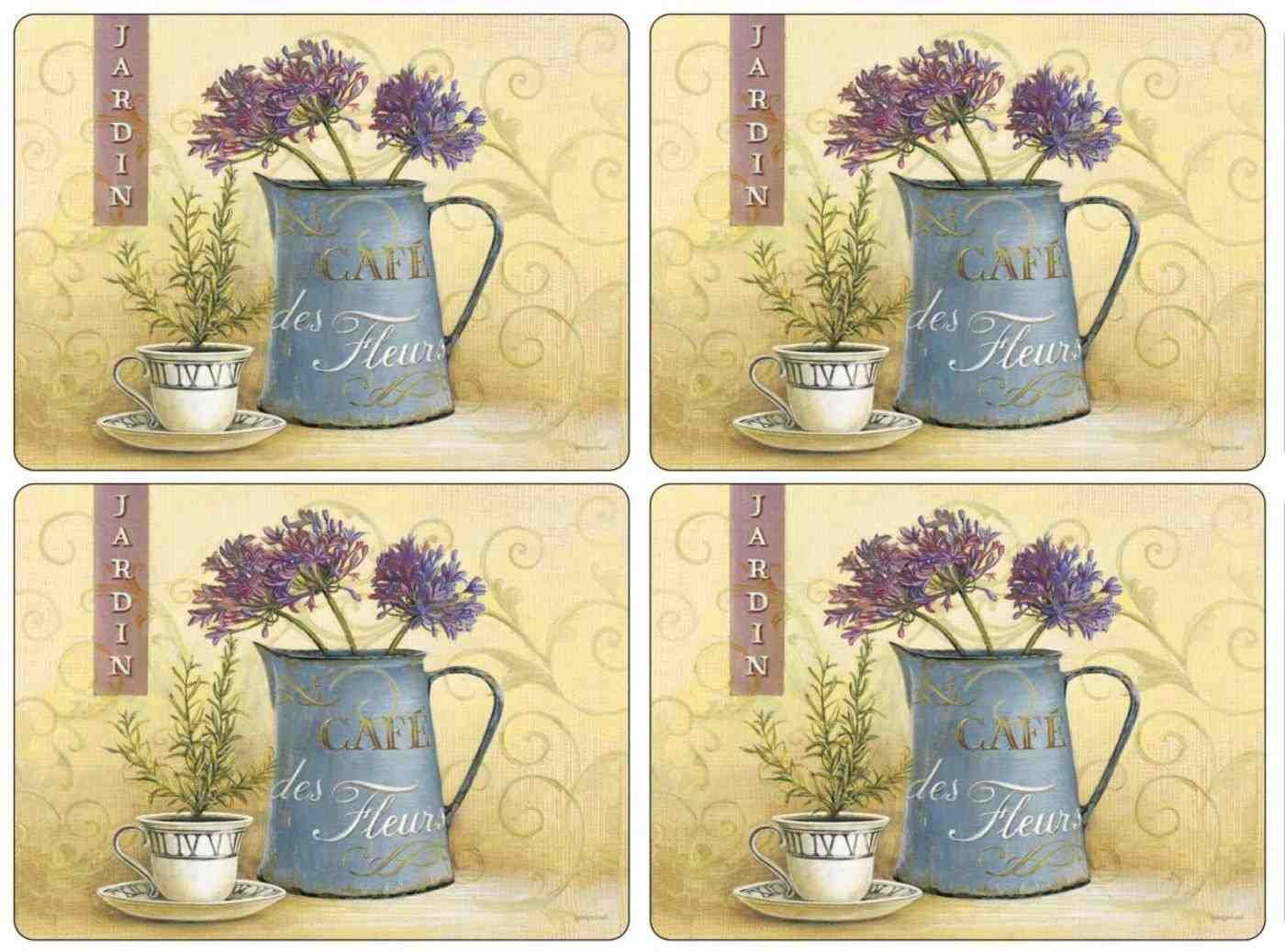 Pimpernel Placemats - Set of 4 - Cafe de Fleurs