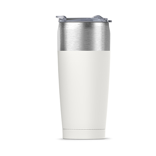 Tied Tumbler Insulated Steel Travel Mug | White