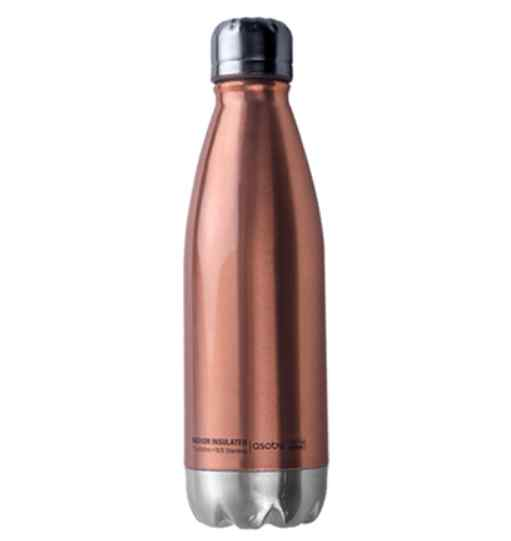 Central Park Insulated Water Bottle | Copper & Silver 17oz