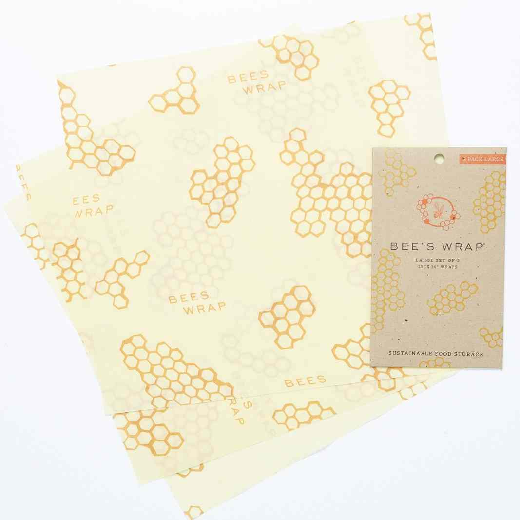 Bee's Wrap Reusable Wraps | Set of 3 Large