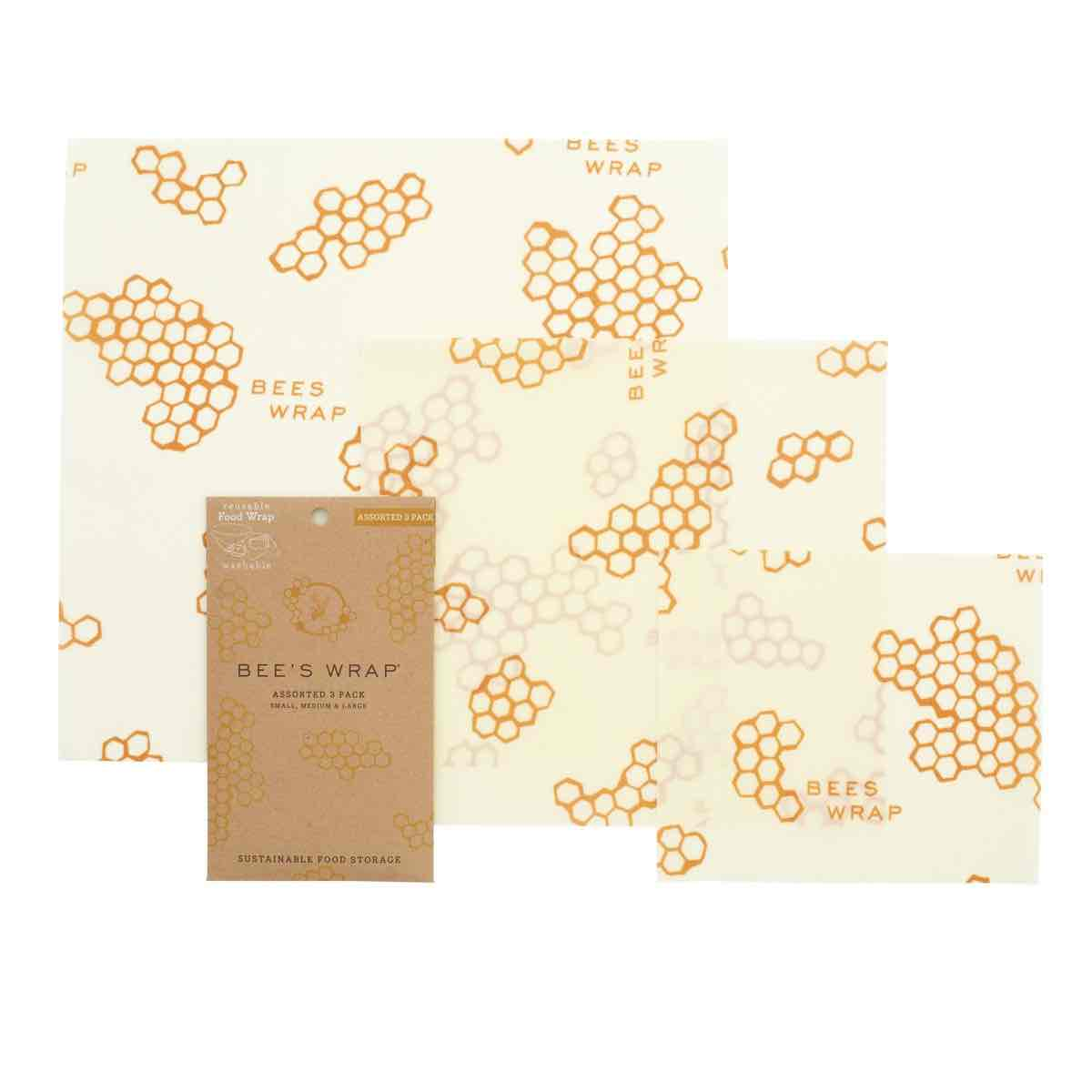 Bee's Wrap Reusable Wraps | Set of 3 assorted