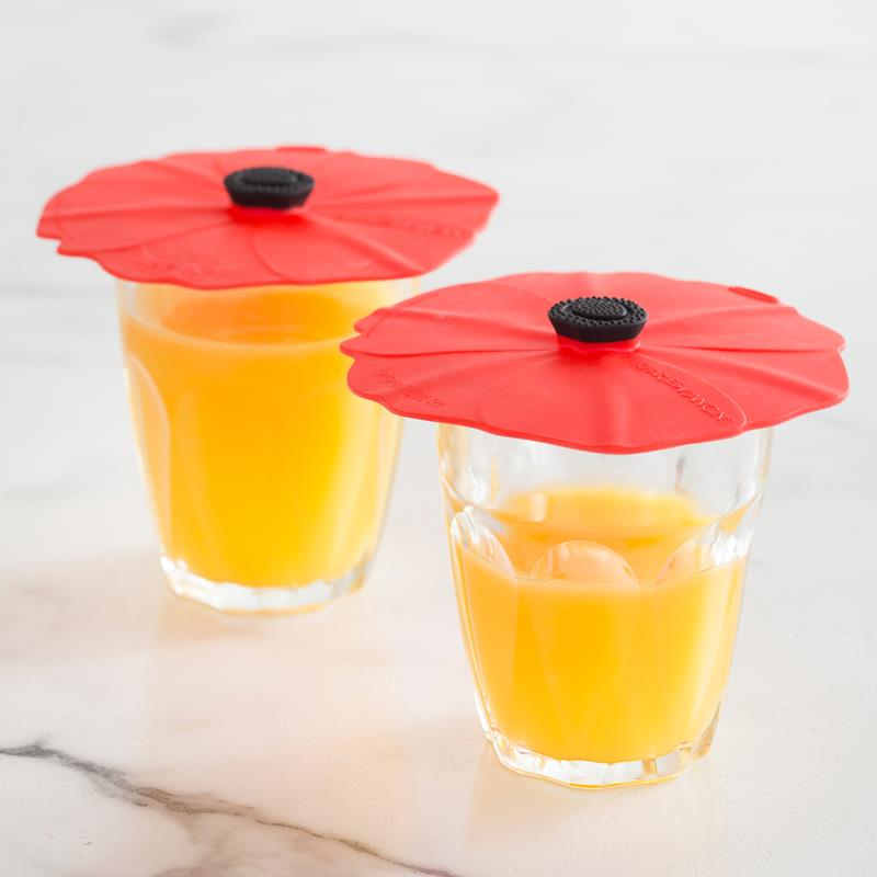 Poppy Silicone Drink Covers/X-Small Lids | Set of 2