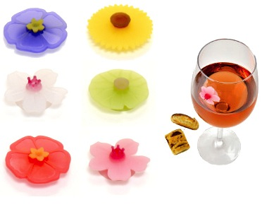 Charles Viancin Floral Drink Markers - Set of 6