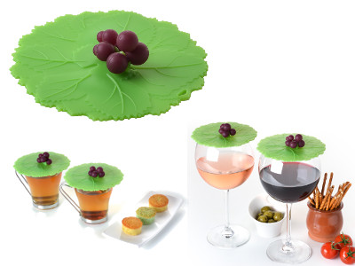 Grape Silicone Drink Covers/X-Small Lids | Set of 2