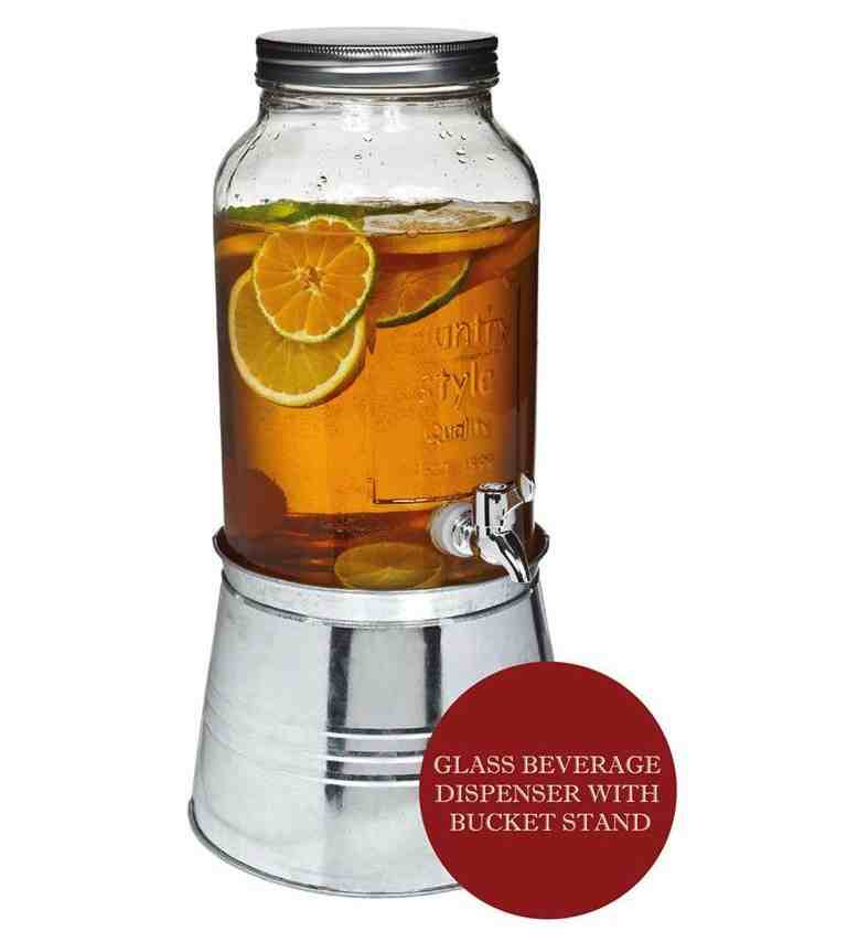 5.5L Beverage Dispenser | Server with Steel Bucket Base