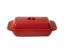Melamine Butter Dish for 1lb | Red