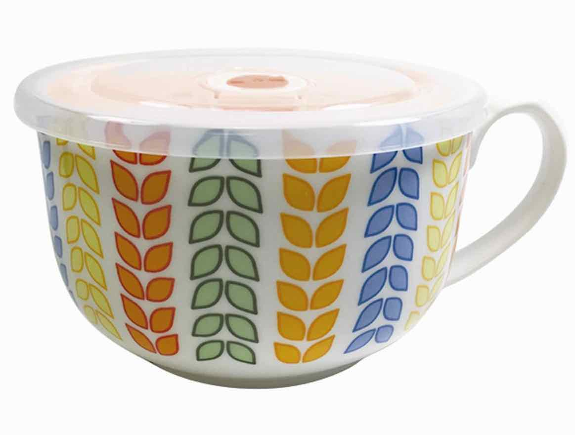 Microwave Soup Mug | Leaves