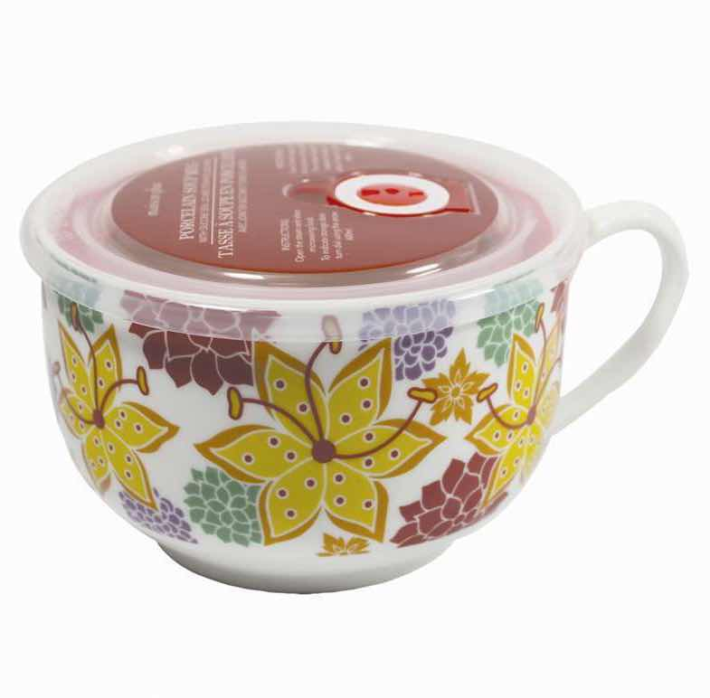 Microwave Soup Mug | Flowers