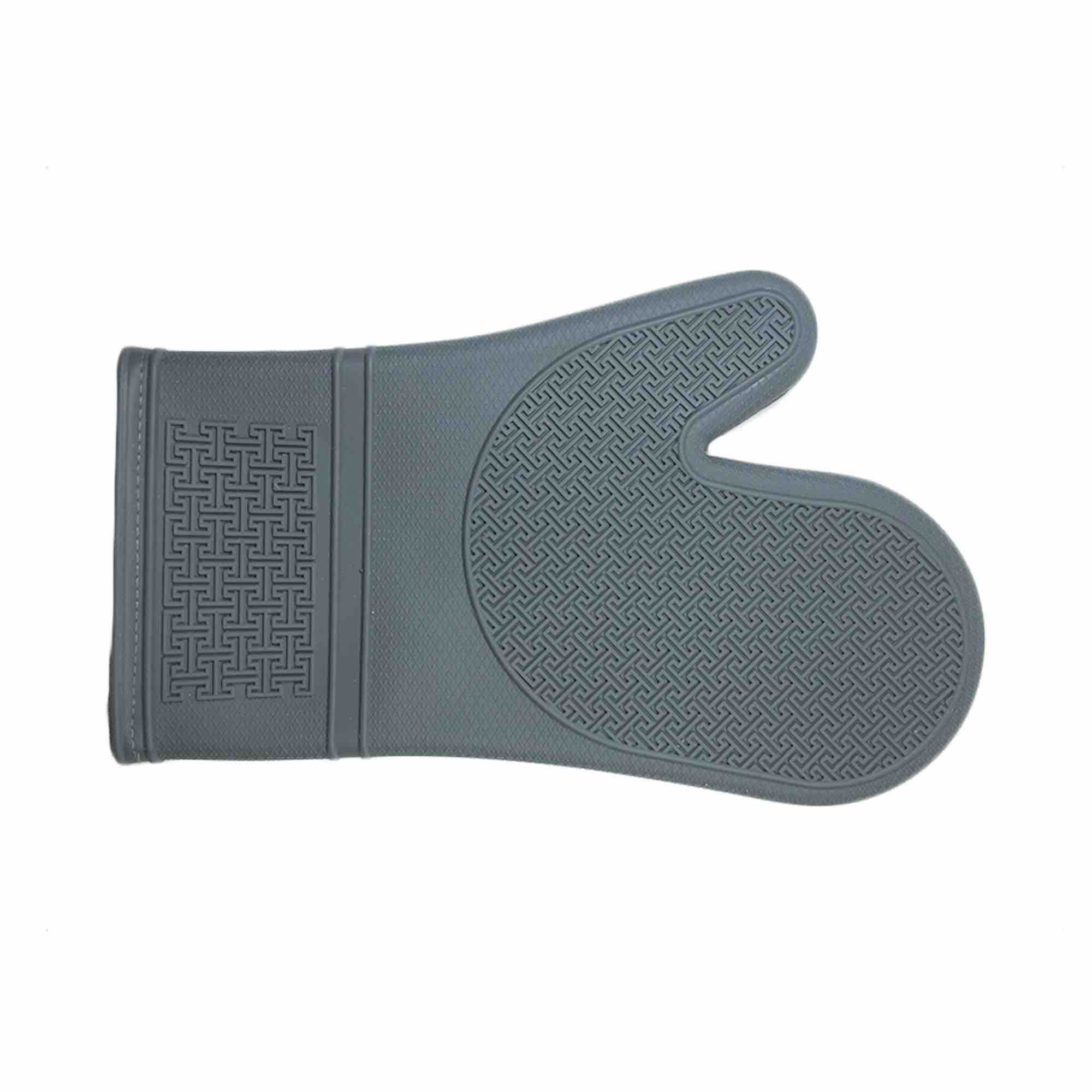 Silicone Oven Mitt with Cotton Lining | Grey