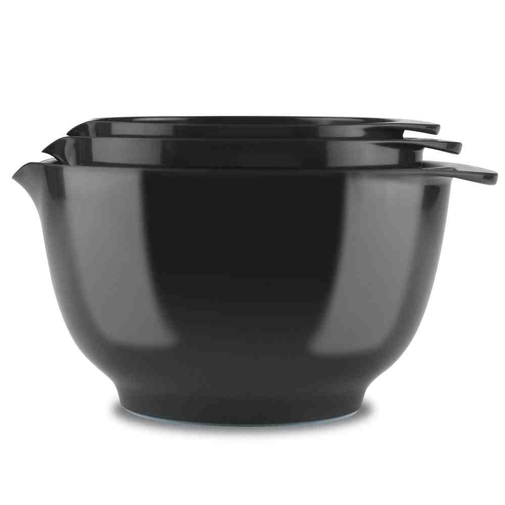 3pc Rosti Margrethe Mixing Bowl Set | Black