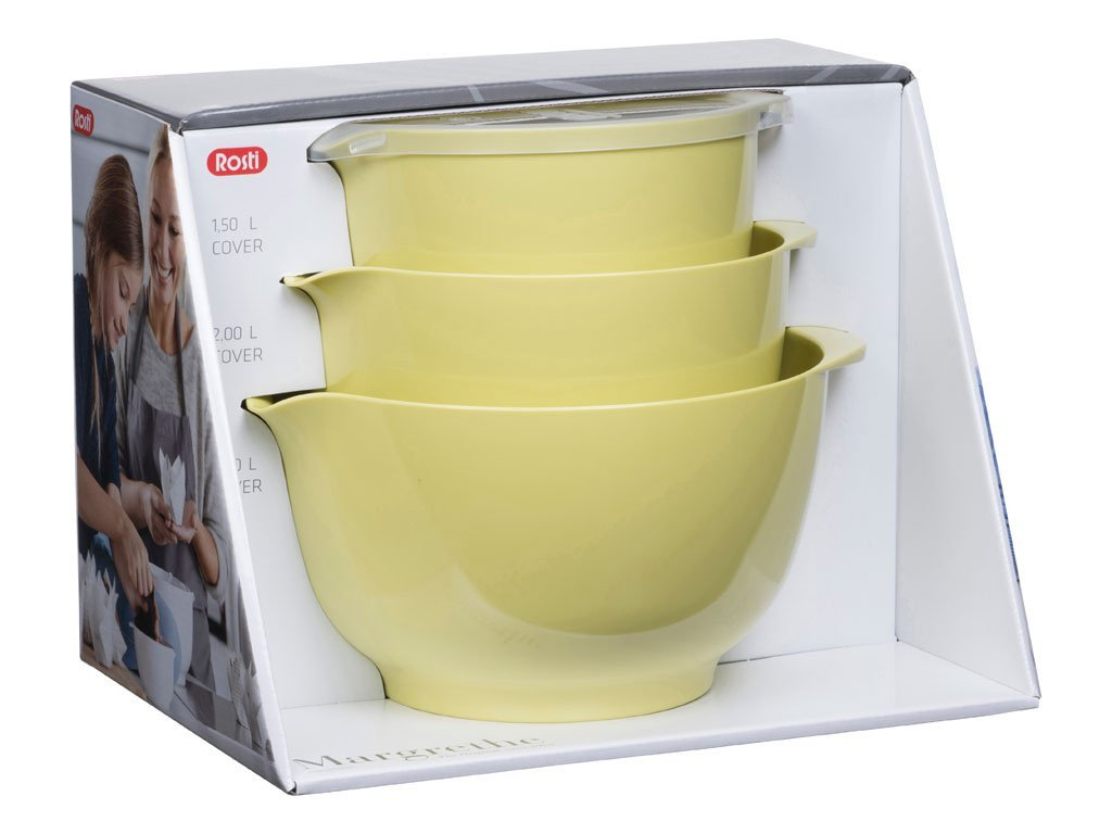 3pc Rosti Margrethe Mixing Bowl Set | Nordic Lemon