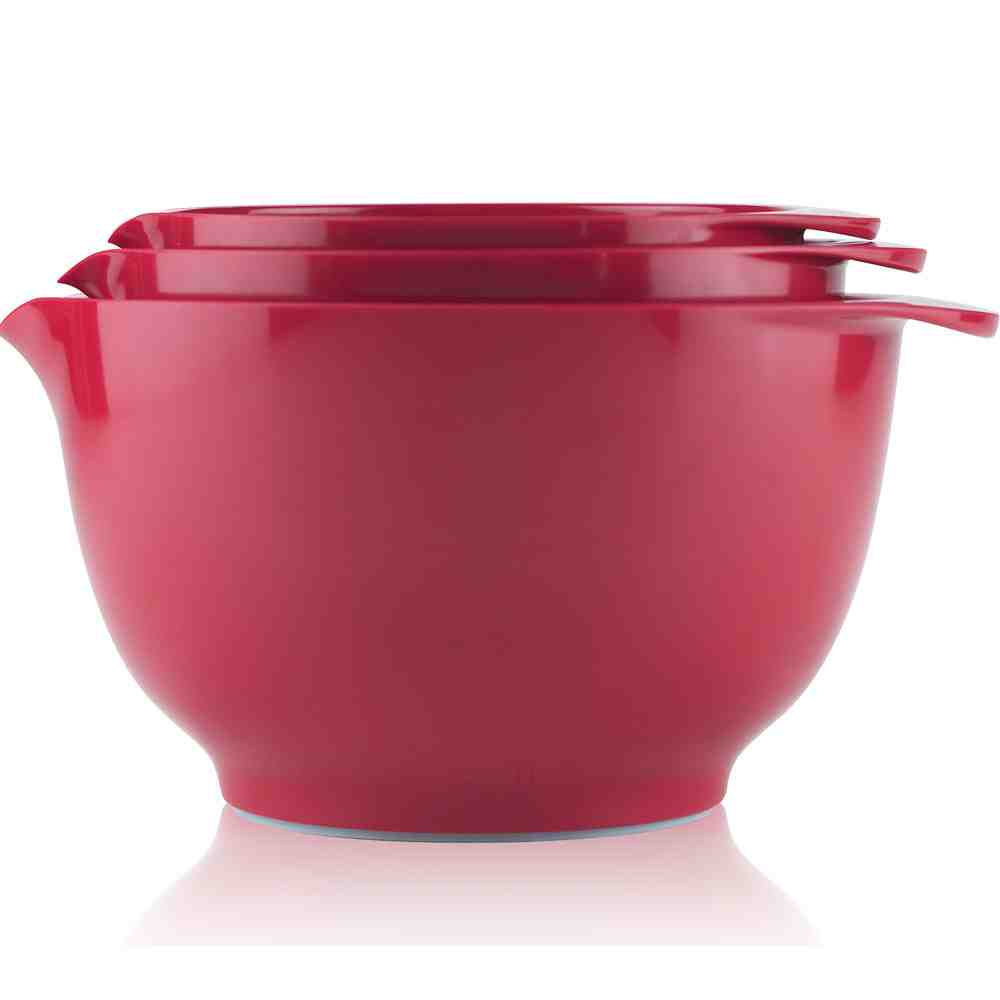 3pc Rosti Margrethe Mixing Bowl Set | Luna Red