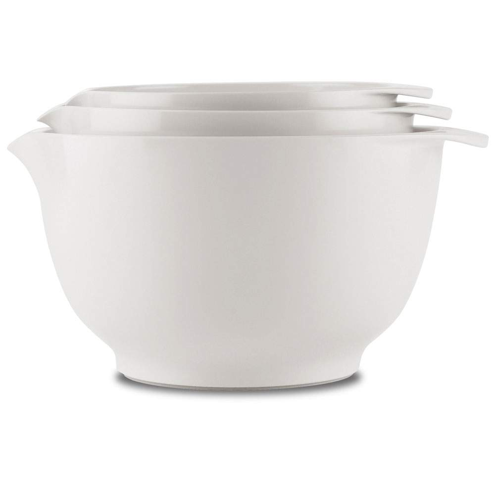 3pc Rosti Margrethe Mixing Bowl Set | White