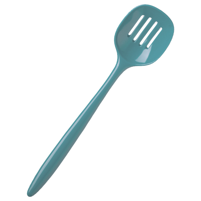 Rosti Melamine Slotted Spoon | Nordic Green
