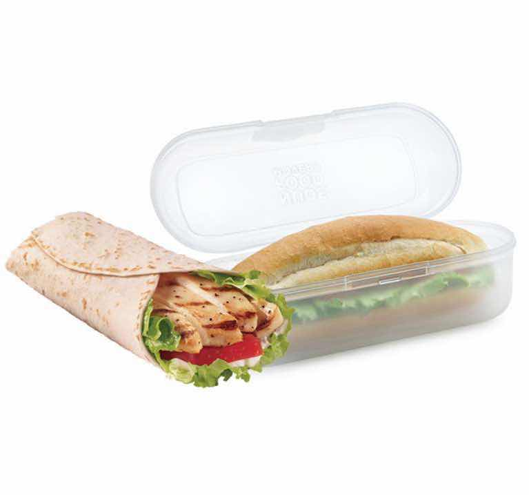 Nude Food Movers Sandwich Wrap & Roll Container