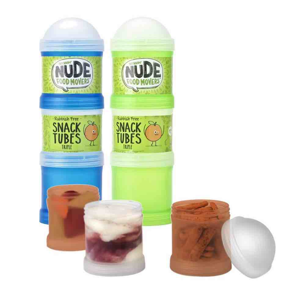 Nude Food Movers Triple Snack Tube