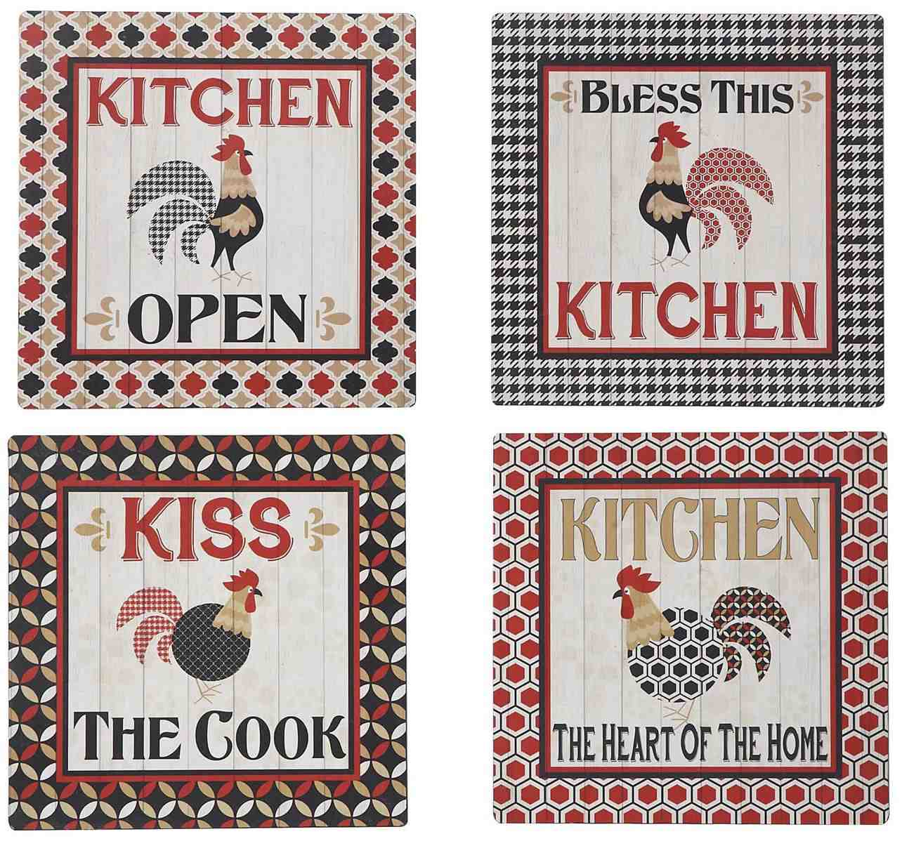 Metal Rooster Kitchen Sign