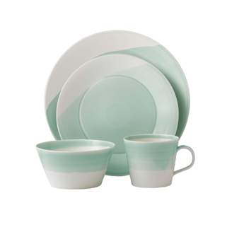 Royal Doulton 1815 Dinnerware Green 4pc Place Setting