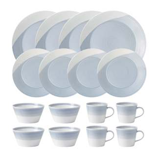 Royal Doulton 1815 Dinnerware Blue 16pc Box Set