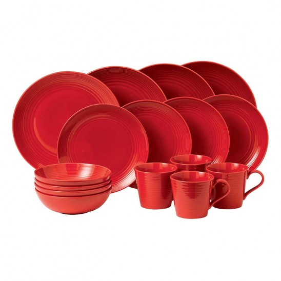 Gordon Ramsay MAZE Chilli Red Dinnerware 16pc Box Set