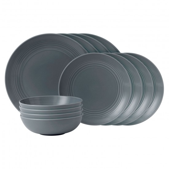 Gordon Ramsay MAZE Dark Grey Dinnerware 16pc Box Set