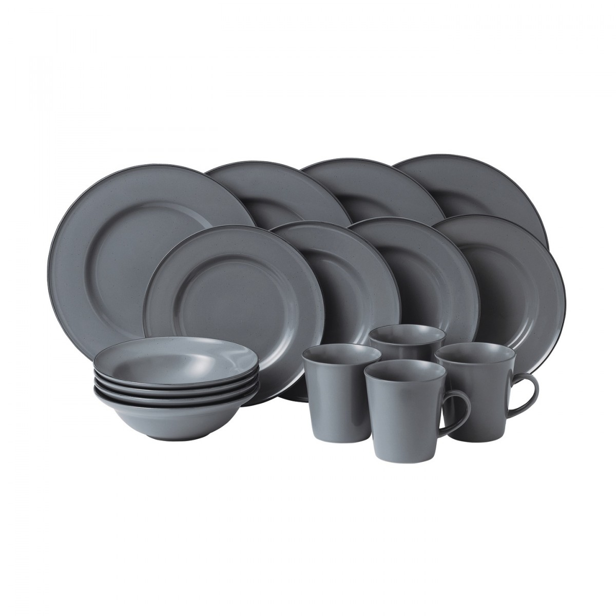 Gordon Ramsay Union Street Café Dinnerware 16pc Box Set | Grey