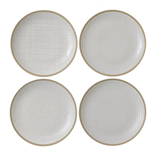 "Gordon Ramsay MAZE GRILL Mixed White 9"" Plates 
