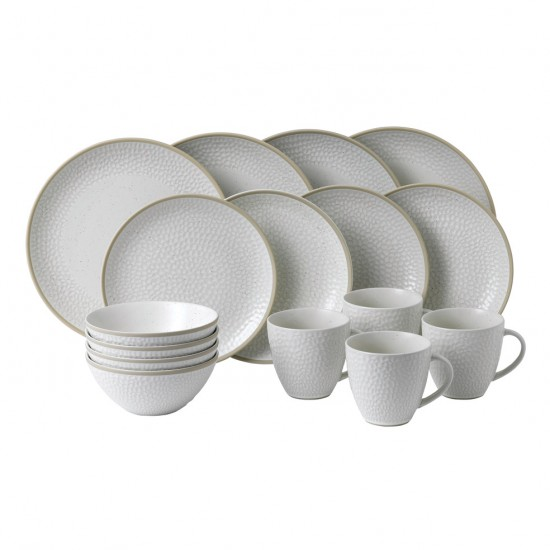 Gordon Ramsay MAZE GRILL Hammer White 16pc Dinnerware Set