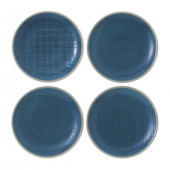 "Gordon Ramsay MAZE GRILL Mixed Blue 9"" Plates 