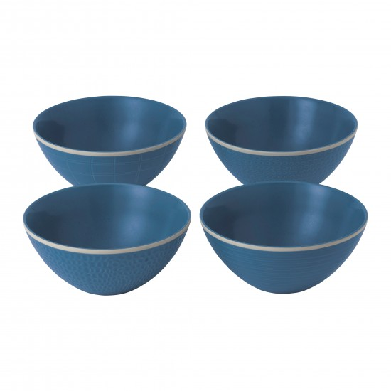 "Gordon Ramsay MAZE GRILL Mixed Blue 6"" Bowls 