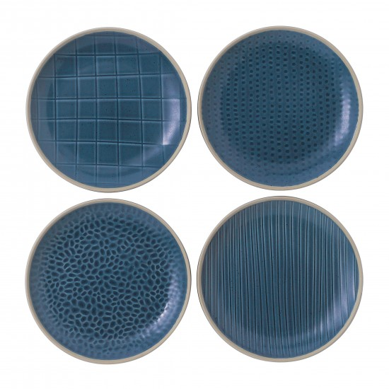 "Gordon Ramsay MAZE GRILL Mixed Blue 6"" Plates 