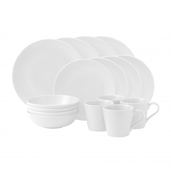 Gordon Ramsay MAZE White Dinnerware 16pc Box Set