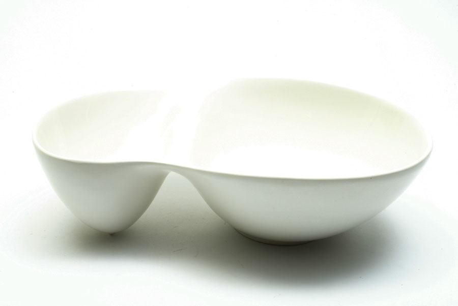 White Basics Oslo Divided Serving Bowl