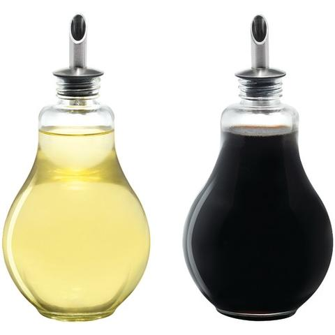 Light Bulb Oil & Vinegar Bottle Set