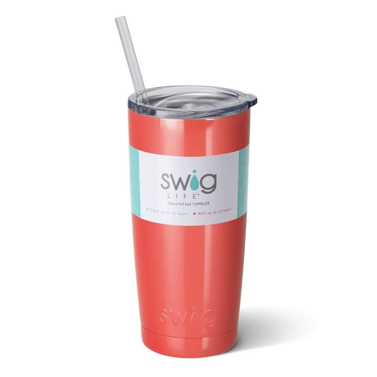 Swig Insulated Steel 20oz Tumbler | Coral