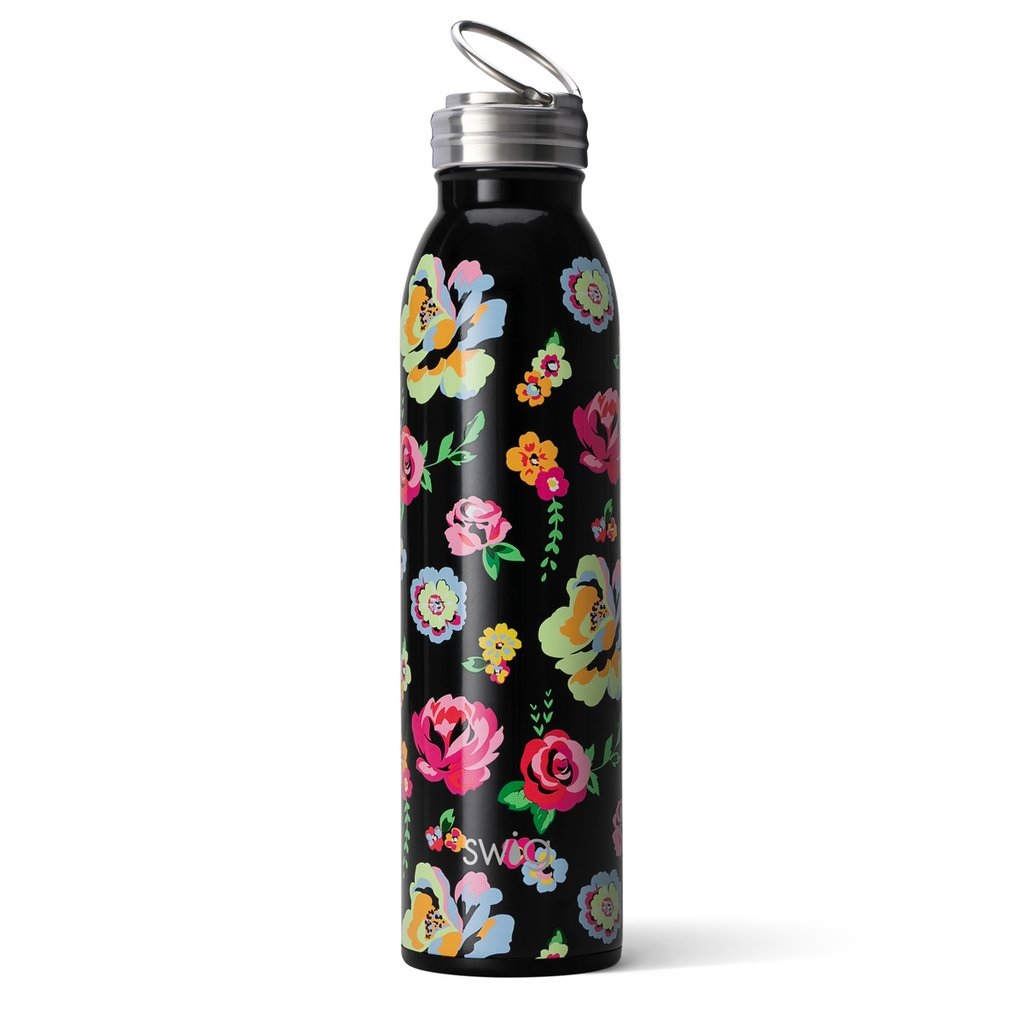 Swig Insulated Steel 20oz Water Bottle | Fleur Noir