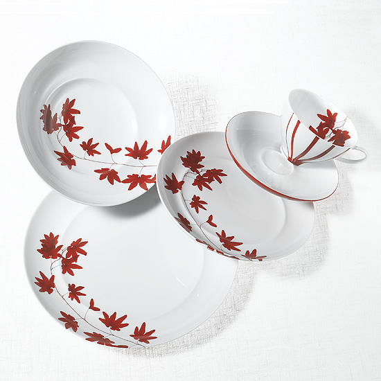Mikasa Dinnerware Pure Red 5 pc Place Setting
