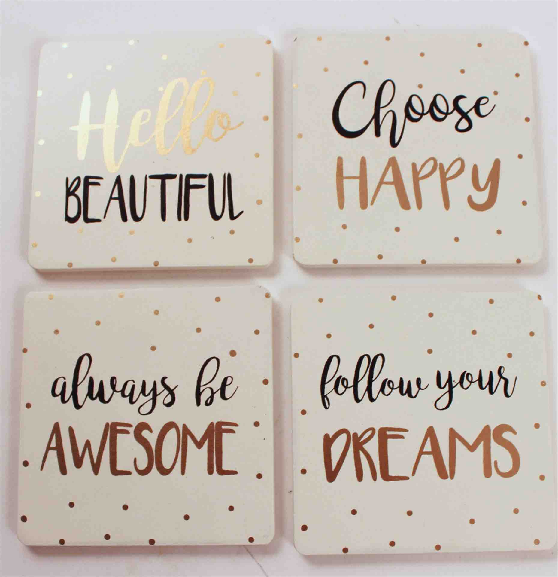 White Coasters | Set of 4