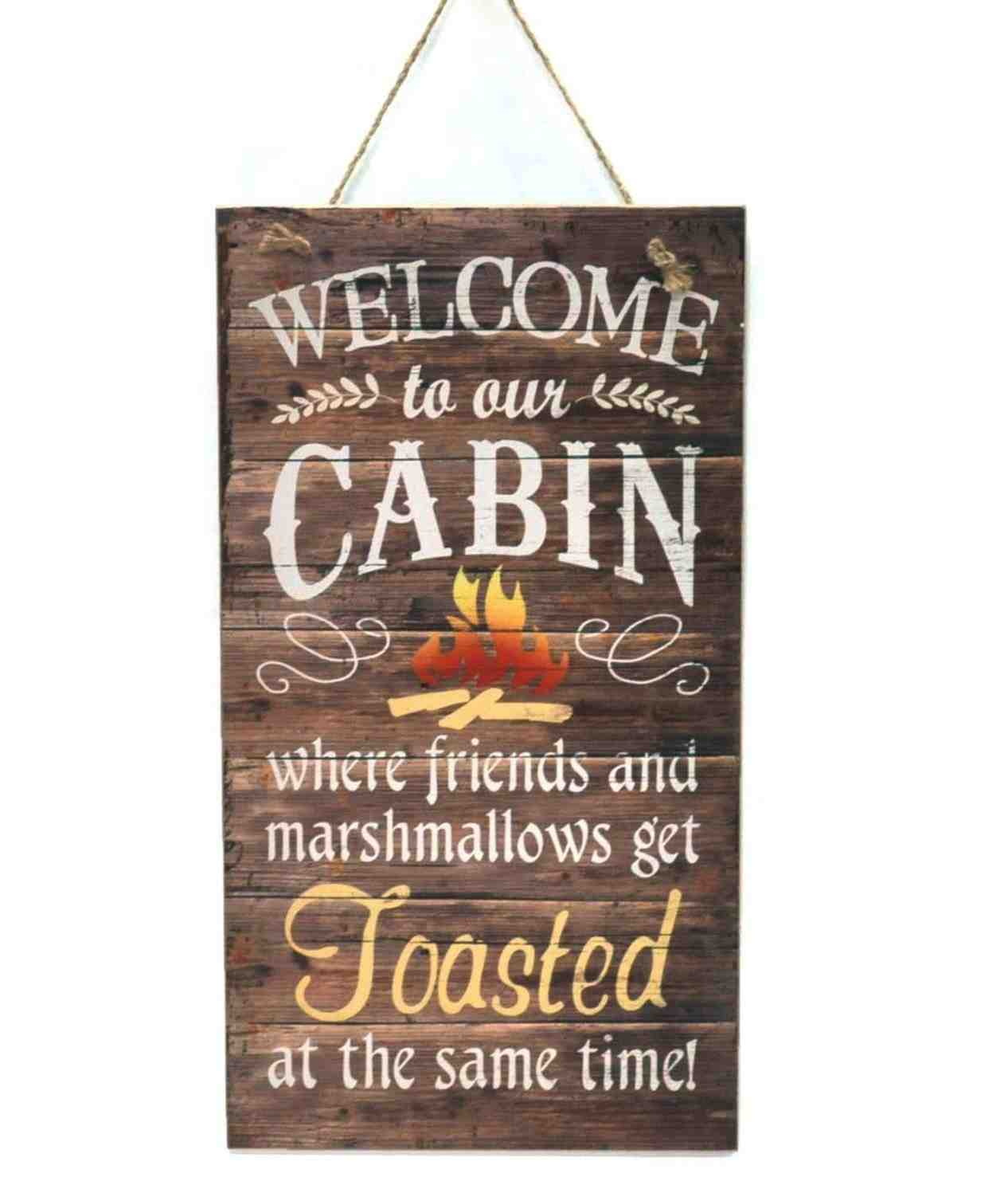 Hanging Wood Wall Plaque | Toasted