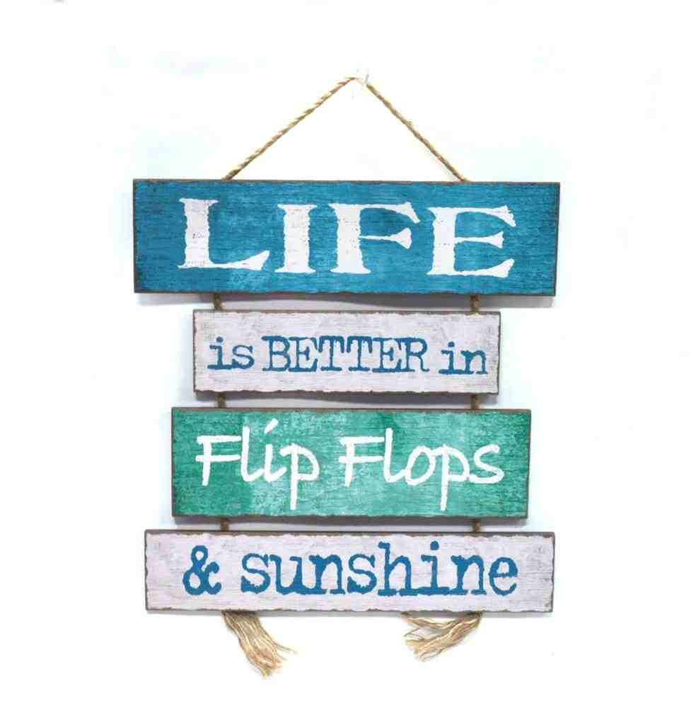 Hanging Wooden Wall Plaque | Life is Better