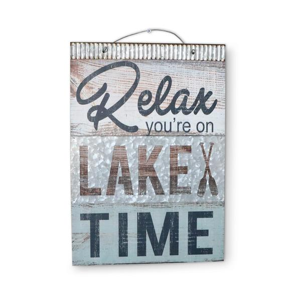 Wall Sign | Relax You're on Lake Time