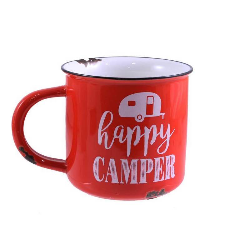 Enamel Look Mug | Happy Camper