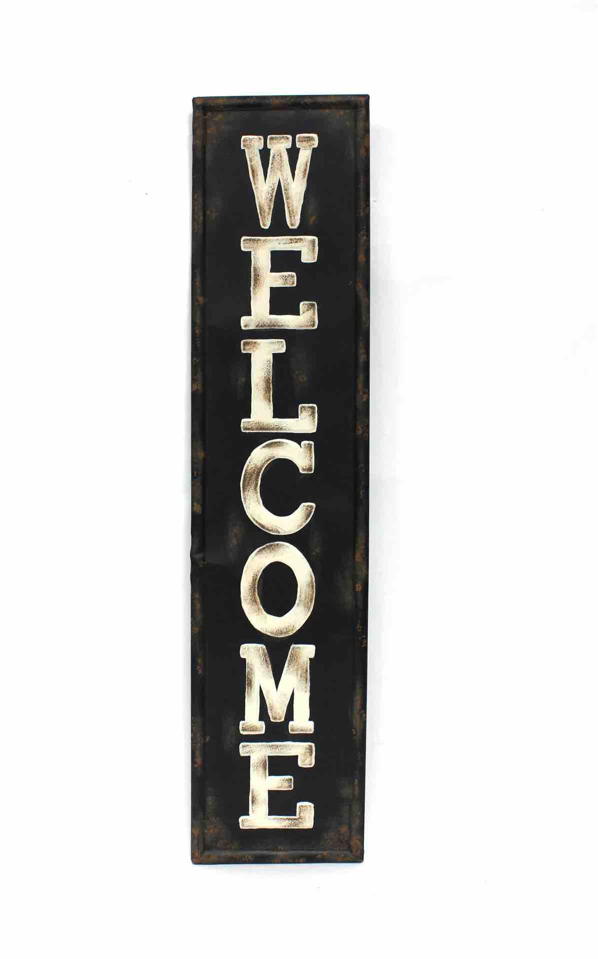 Wall Sign | Vertical Welcome