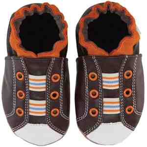 Robeez Boys Soft Soles - Dashing Dustin Espresso 18-24M