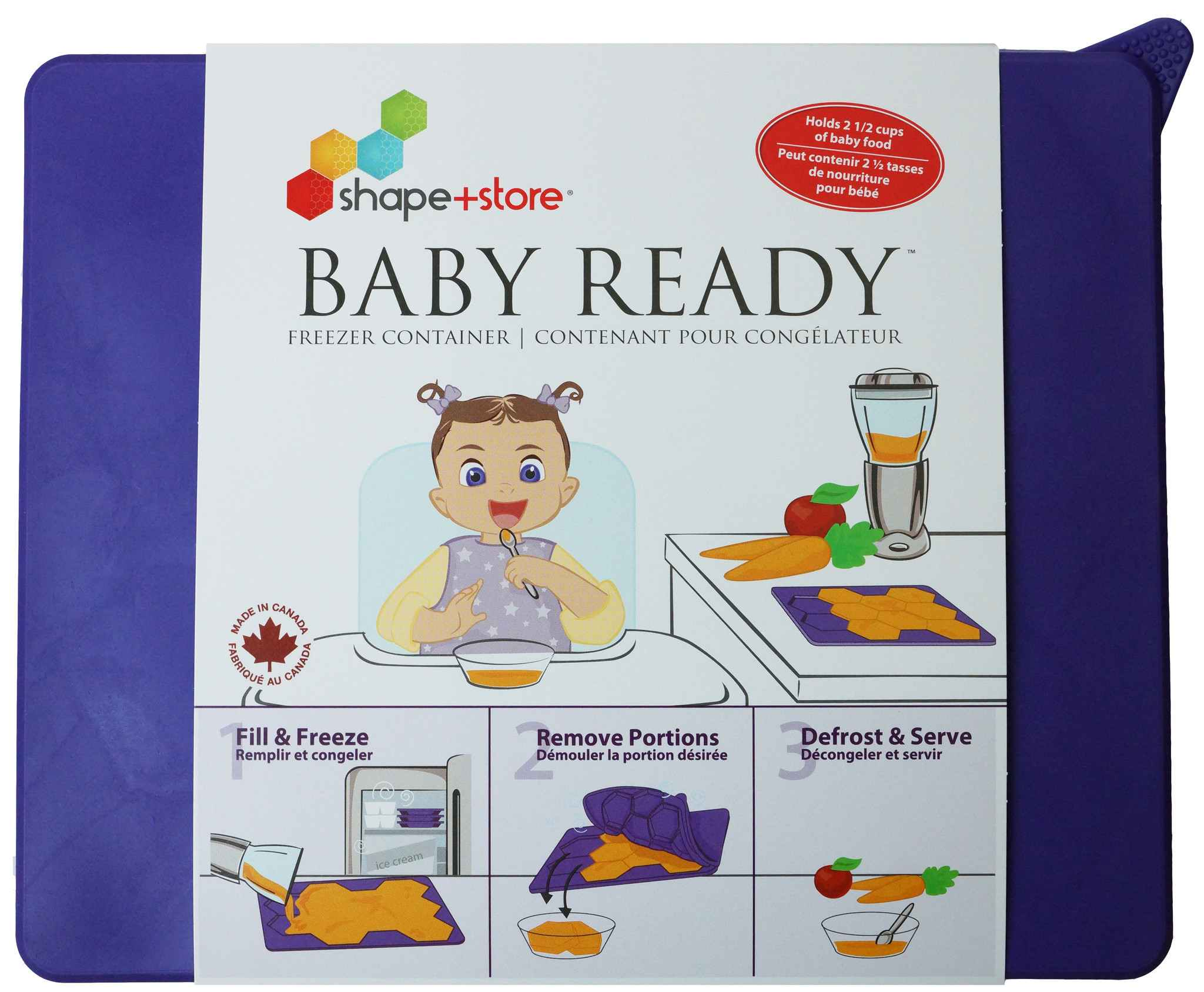 Baby Ready | Silicone Freezer Container | Portioner