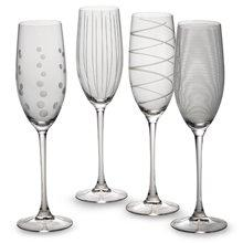 Cheers Champagne Flutes Set of 4