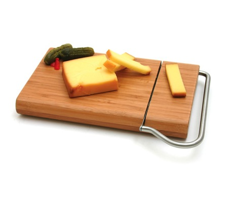 Bamboo Board with Cheese Slicer Blade