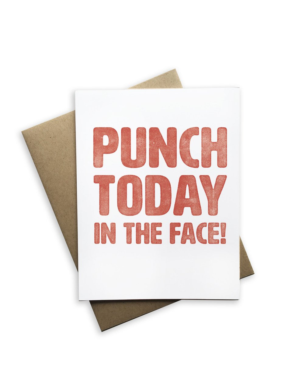 Notecard | Punch Today In The Face